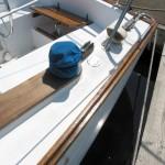 varnished wood boat